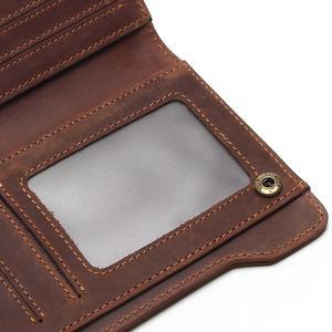 Image 5 - Tauren 100% 本革のクラシック財布最高のクレイジーホースレザーメンズ財布のファッション男性財布