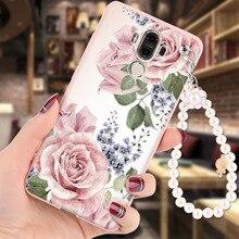 Huawei Mate 9 чехол мягкий силиконовый 3D Рельеф Живопись жемчужный браслет модная одежда для девочек задняя крышка Капа для Huawei Mate9 случаях