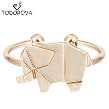 Todorova Adjustable Origami Elephant Rings For Women Animal Rings Jewelry Buy Bulk China Christmas Gift Ideas Hip Hop Ring