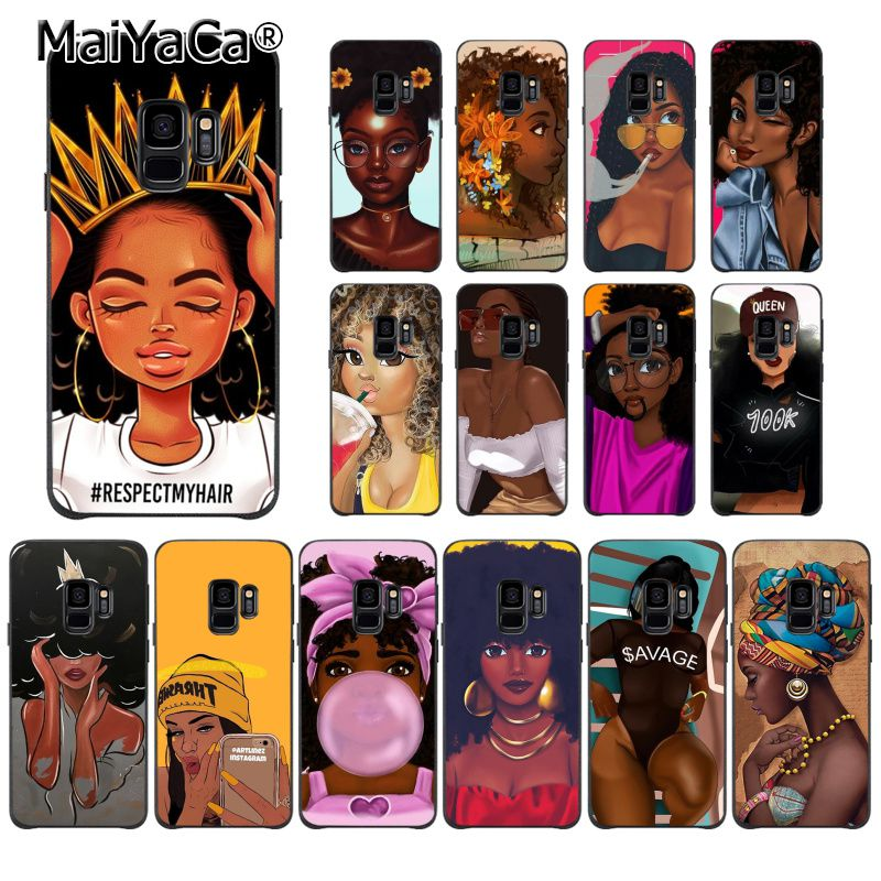 Maiyaca Phone-Case Melanin Poppin Beauty S9plus Samsung Galaxy African Black Girl