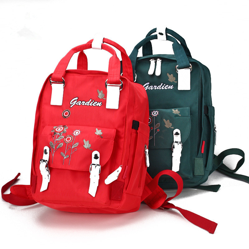 2017 High Practical Nappy Diaper Bag For Mommy Father Waterproof Nylon Baby Maternity Bag Professional Kids Backpack Baby Bag
