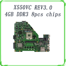 Laptop Motherboard For X550VC X550CC with 8 pcs chips 4GB DDR3 HM76 GT720 REV3.0 Mainboard fully tested & free shipping