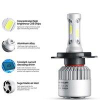 S2 H4 H7 H13 H11 H1 9005 9006 H3 9004 9007 9012 COB LED Headlight 80W