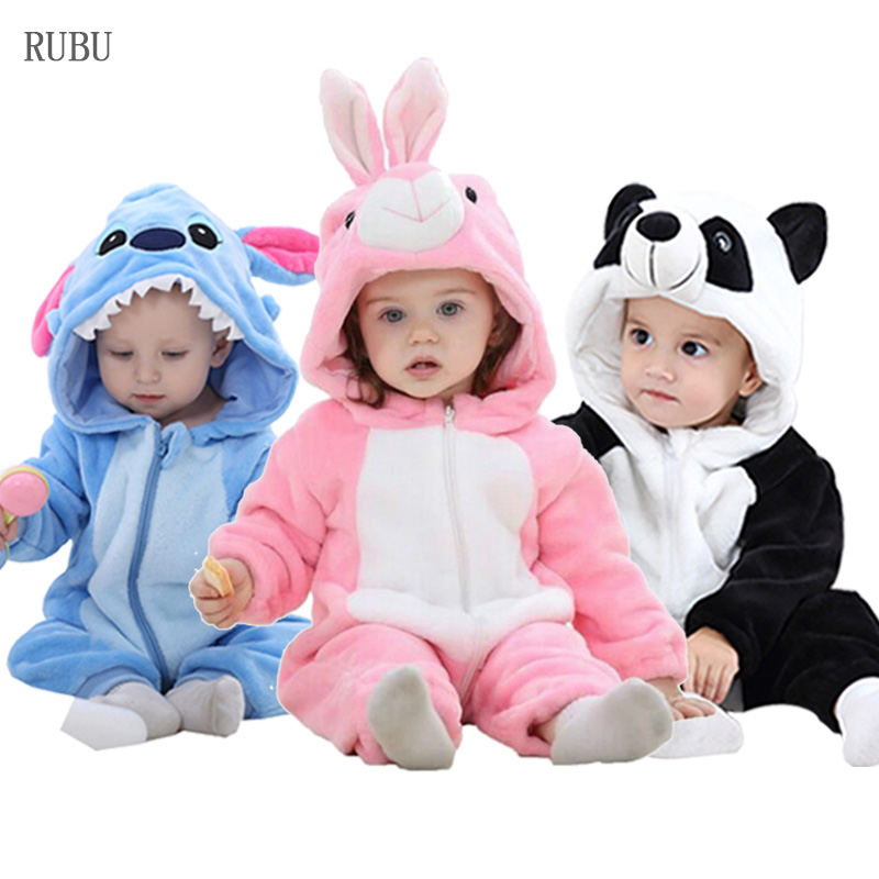 Cute Infant   Romper   Baby Boys Girls Jumpsuit New born Bebe Clothing Hooded Toddler Baby Clothes Cute Rabbit   Rompers   Baby Costumes