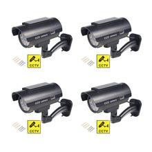 Solar sztuczna kamera 4 szt. Bullet Security Outdoor CCTV atrapa aparatu wodoodporny nadzór miga czerwony LED darmowa wysyłka czarny