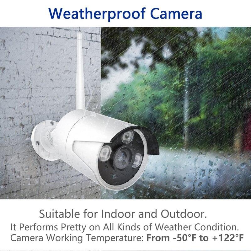 Wetterfeste Stecker und Spielen P2P Cloud Basierend 4CH 1.3MP 960 p HD Drahtlose WiFi Kamera NVR Kit Für Indoor Outdoor home Shop Sicherheit - 2