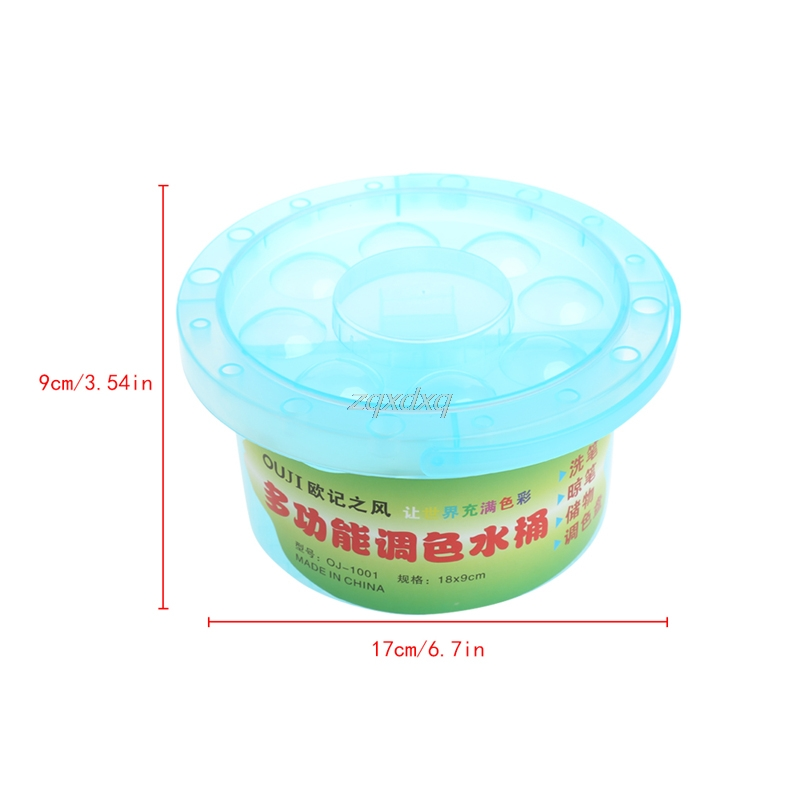 Multifunction Bucket Container For Brush Pen Washing Clearning Painting Plastic Whosale&Dropship
