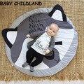 95 algodão cobertor Do Bebê mats jogue jogos do bebê tapete Macio raposa bebê engatinhando cobertor adereços fotografia cobertor do bebê decoração do quarto