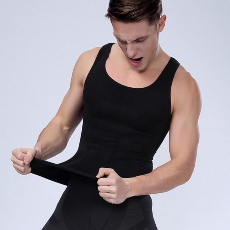 Männer Schlankheits-körperformer Weste Kompression Muscle Shirt Lauf FöRderung Der Produktion Von KöRperflüSsigkeit Und Speichel Westen