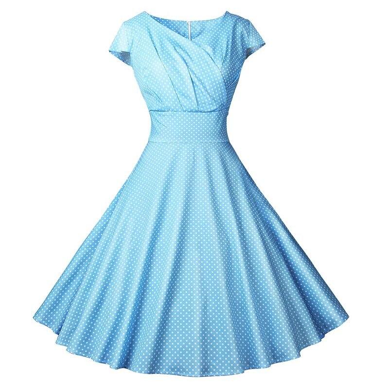 Women Vintage Dress 2019 Summer Floral Print Short Sleeve Dresses 50s 60s Office Party Rockabilly Swing Retro Pinup Plus Size XL