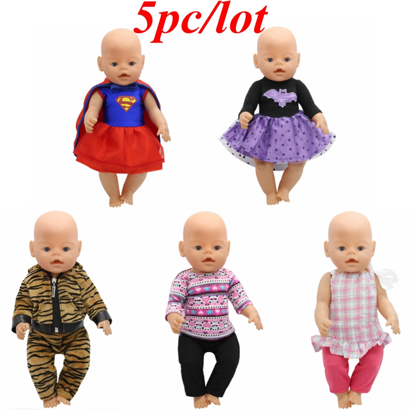 5pc/lot Baby Born Doll Clothes Cute Jacket Set Superman Batman Costume Fit 43cm Zapf Baby Born 16-18 inch Doll Accessories  Z14 summer women shoes casual platform wedges high heels open toe sandals 2017 fashion genuine leather women s heels pumps shoes
