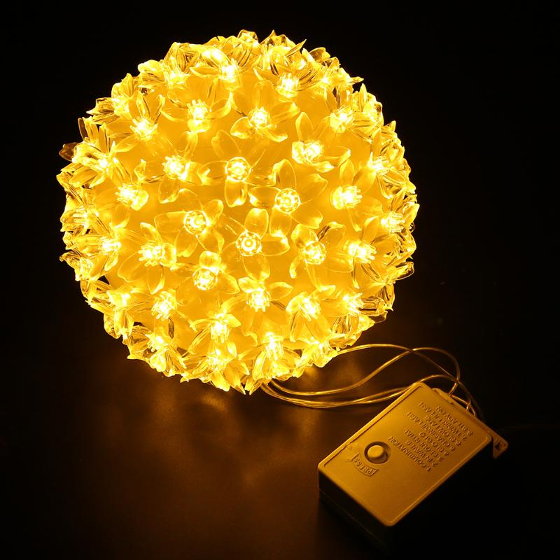 Festival Party String Lights LED Decor 8 Paterns Plum Blossom Round Ball Festival Party home Decoration lamp