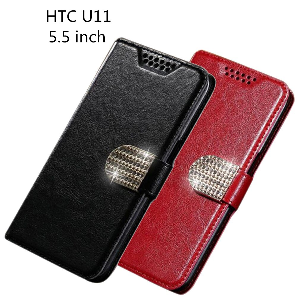 """PU Leather Case For HTC U11 Flip Cover Wallet Phone Cases For HTC U11 U 11 Vive U-3f 5.5"""" Full Protection Cover New"""
