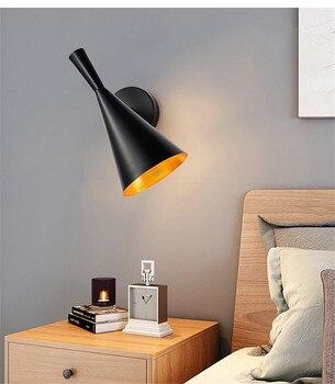 Postmodern Beat Wall Lamp Ins Rotatable Trumpet Wall Light  Living Room Bedroom Bedside Home Decor Lighting Luminaire