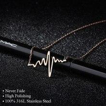 Colar e pingentes de aço inoxidável 316l, pingentes de carreira, mulheres, alta polida, carta, amor, colar, joias de amizade
