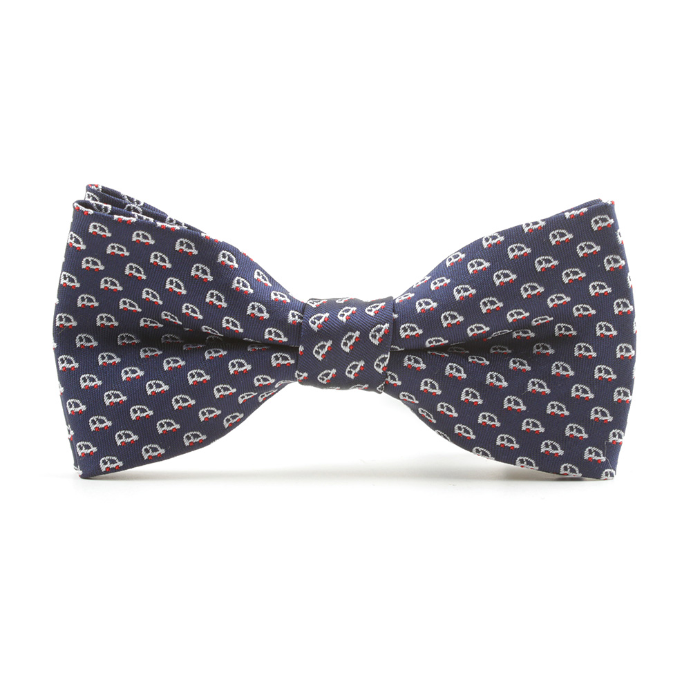 2018 Mens Boys Cartoon Jacquard Cars Printed Novelty Bow Ties Cute Wedding Party Casual Neck Ties