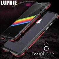 Caso de alumínio Para O Iphone X 8 7 Plus 6 S 6 Original Luphie Dual Color Metal Tampa do Caso do Quadro para O Iphone 8 + Tela De Vidro IPX05