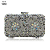 Women Evening Bags Luxury Crystal Clutch Female Clutches Wedding Bag Ladies Party Purse With Long Chain