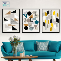SPLSPL Sample Geometric Shape Canvas Art Print Painting Poster Wall Pictures for Home Decoration Home Decor Abstract oil paint