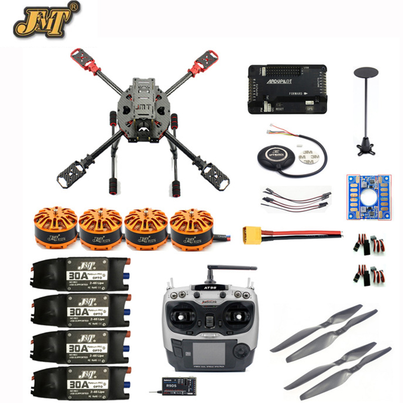 DIY 2.4GHz 4-Aixs RC Drone 630mm Frame Kit APM2.8 Flight Controller with AT9S TX RX Brushless Motor ESC Altitude Hold Quadcopter f04305 sim900 gprs gsm development board kit quad band module for diy rc quadcopter drone fpv