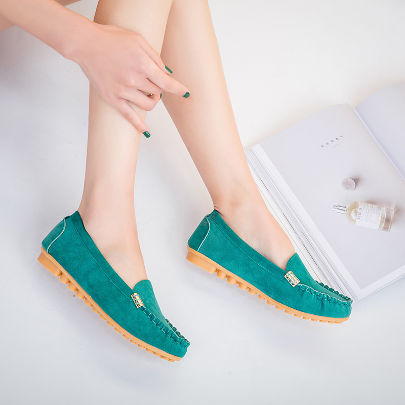 HTB1cn3cX2jsK1Rjy1Xaq6zispXao Plus Size 35 43 Women Flats shoes 2019 Loafers Candy Color Slip on Flat Shoes Ballet Flats Comfortable Ladies shoe zapatos mujer