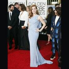 Lavendel Goldene Globale Academy Awards 2016 Oscar Mermaid Plissee Roter Teppich Kleider Elegante Prom Kleider OE3