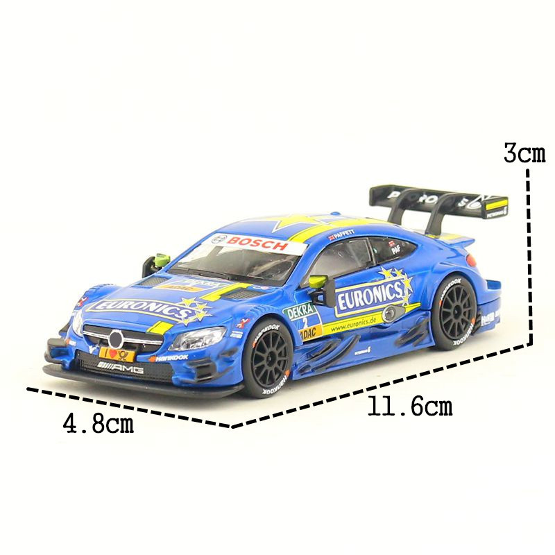 RMZ City/1:43 Scale/Diecast Toy Model/DTM C-Class AMG Super Sport Racing Car/Educational Collection/Gift For Children