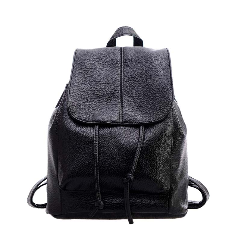New Women Girl Multi-functional Backpack PU Leather Students School Bag Unique Casual Double Shoulder Bags Soft High Quality -47