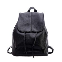 New Women Girl Multi functional Backpack PU Leather Students School Bag Unique Casual Double Shoulder Bags