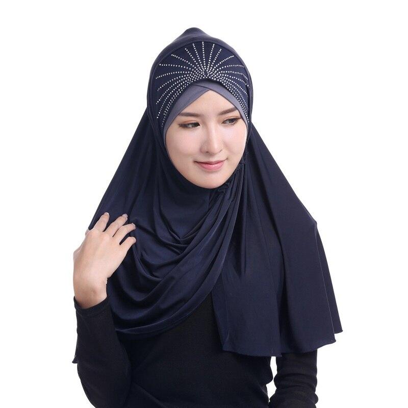 Muslim Scarfs Women Full Cover Muslim Inner Hijab Caps Islamic Turban Head Wear Hats Lady's  Fashion Islamic Underscarf 2017