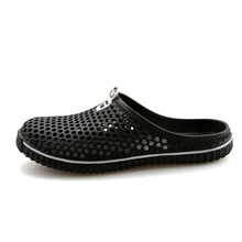 Big Size 39-45 Summer Beach Sandals Men Backless EVA Material Mules & Clogs Shoes Hollow Flat With Slides Jelly Shoes Slippers