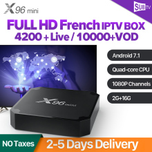IPTV France BOX X96 mini SUBTV Subscription Android 7.1 TV Receiver with Spain Arabic Belgium Portugal Dutch IP
