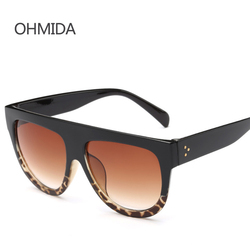 New fashion flat top mirror sunglasses woman men brand design black sun glasses for woman rivet.jpg 250x250