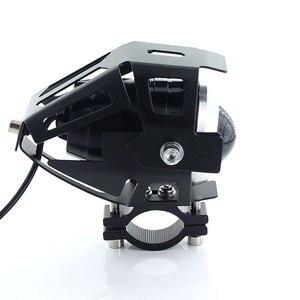 Image 5 - 2 sztuk białe reflektory motocykla lampa pomocnicza U5 led reflektor motocyklowy akcesoria 12V moto DRL spot reflektory przednie