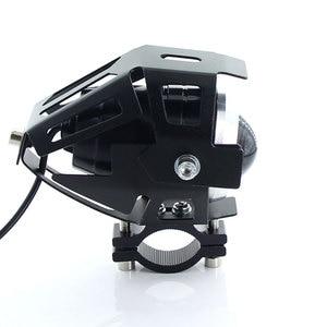 Image 5 - 2PCS Bianco moto rcycle fari lampada ausiliaria U5 led moto rbike accessori faretti 12V moto DRL spot testa luci