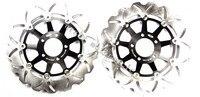 Бесплатная доставка мотоцикла тормозной диск ротора подходит для Suzuki GSXR 750 1989 1995 GSXR750 LIMTED издание 1989 1990 GSXR 1100 89
