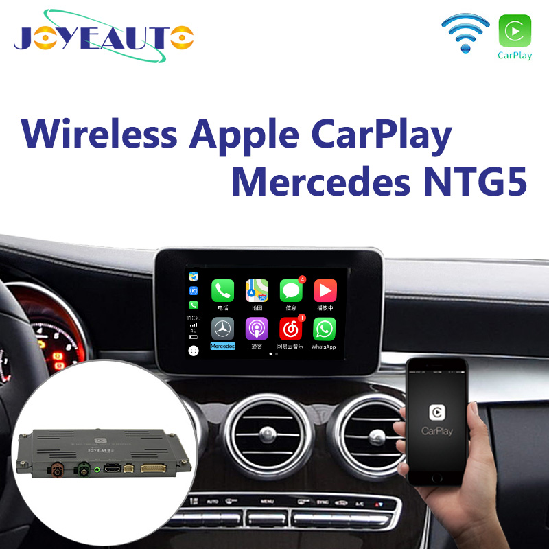 Joyeauto Wireless Apple Carplay Car play Android Auto Mirror Retrofit for Mercedes A B C E G CLA GLA GLC S Class 15 19 NTG5 W205