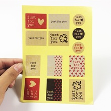 130 Pcs/lot Stickers 'Just For You' Multi-style Sealing Sticker DIY Gifts Posted Baking Decoration Label Stickers Scrapbooking 80 pcs lot black white round handmade craft paper seal sticker diy gifts sealing stickers posted for baking decoration label