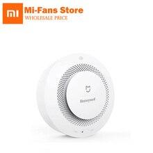Em choque original xiaomi mijia honeywell inteligente alarme de incêndio progressivo som fotoelétrico sensor fumaça remoto ligação mihome app