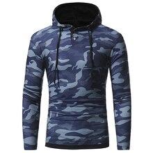 T -Shirt Men 2018 New Cotton -Shirts S Long Sleeve Fashion Hooded Sling Camouflage Tight Shirt Slim Male Tops Xxxl