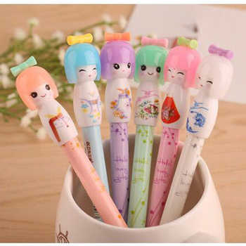 72pcs Cute Pen Kawaii Kimono Doll Gel Pens for School Students Office Writing Girl Gift Stylo Creative Stationary - DISCOUNT ITEM  32 OFF Education & Office Supplies