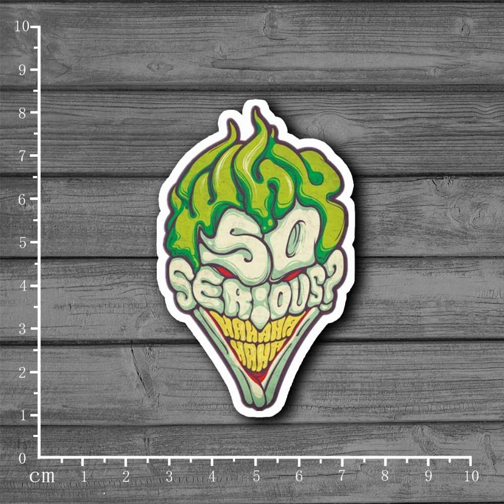 Hot ERNSTIGE? Clown Briefpapier Graffiti Koffer Kinderen Speelgoed Sticker Decor Voor Ablum Scrapbooking Laptop Notebook Sticker [Single]