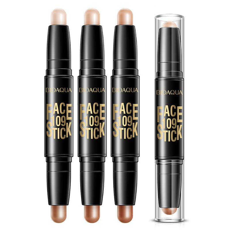 2 in 1 Double-end Make Up Waterproof Eyebrow Pen + Foundation Base Contour Makeup Face Concealer Pencil