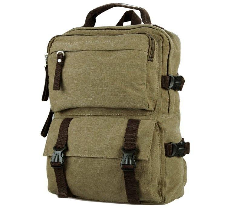 ФОТО 2017 High Quality Men Canvas Backpack Casual Vintage Travel Bag 16 inch Laptop Rucksack Handmade Travel Tote 9018B