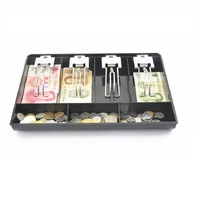 Metal Clip Cash Register Box New Classify Store Cashier Coin Drawer Box 32 5 24 5