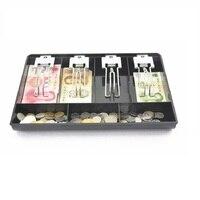 Clip in metallo registratore di cassa di dialogo Nuovo Classificare Cassiere moneta casella Cassetto 32.5*24.5*3.5 cm cassetto dei contanti vassoio