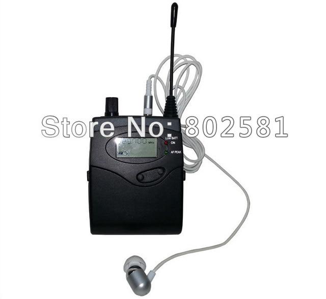 Bodypack receptor para sistema de Monitor de oído, cámara DSLR inalámbrica, micrófono, sistema de guía de viaje, 4x10 canales, ajustable