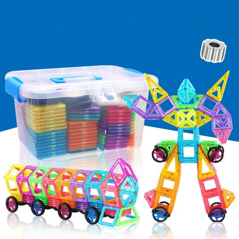 64x 3D Magnetic Building Tiles Sets Block Kids Construction Educational Toy Gift