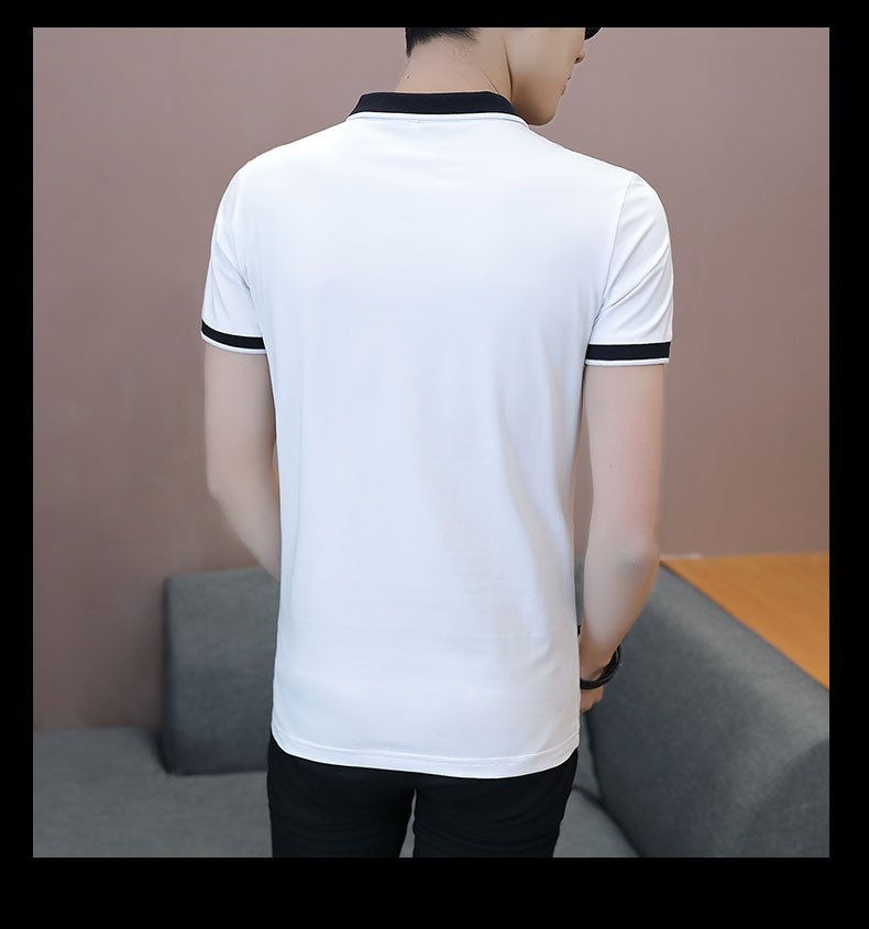 Short-sleeved T-shirt men's fashion casual cotton clothes decorated with multi-color optional 87