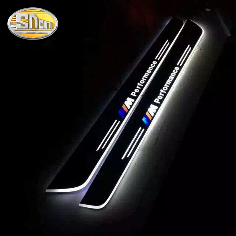 SNCN Waterproof Acrylic Moving LED Welcome Pedal Car Scuff Plate Pedal Door Sill Pathway Light For BMW Z4 E89 2009 - 2012 2013 free ship rear door of high quality acrylic moving led welcome scuff plate pedal door sill for 2013 2014 2015 audi a4 b9 s4 rs4 page 2